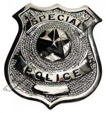 US metal Badge Special police