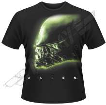 T-shirt Alien, head