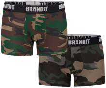 Ropa interior masculina Brandit Logo (double pack)