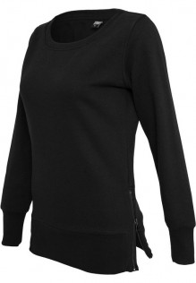 Ladies Side Zip Long Crewneck Nena