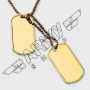 US dog tag set - Color oro