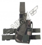 Tactical holster - leg / belt - Woodland
